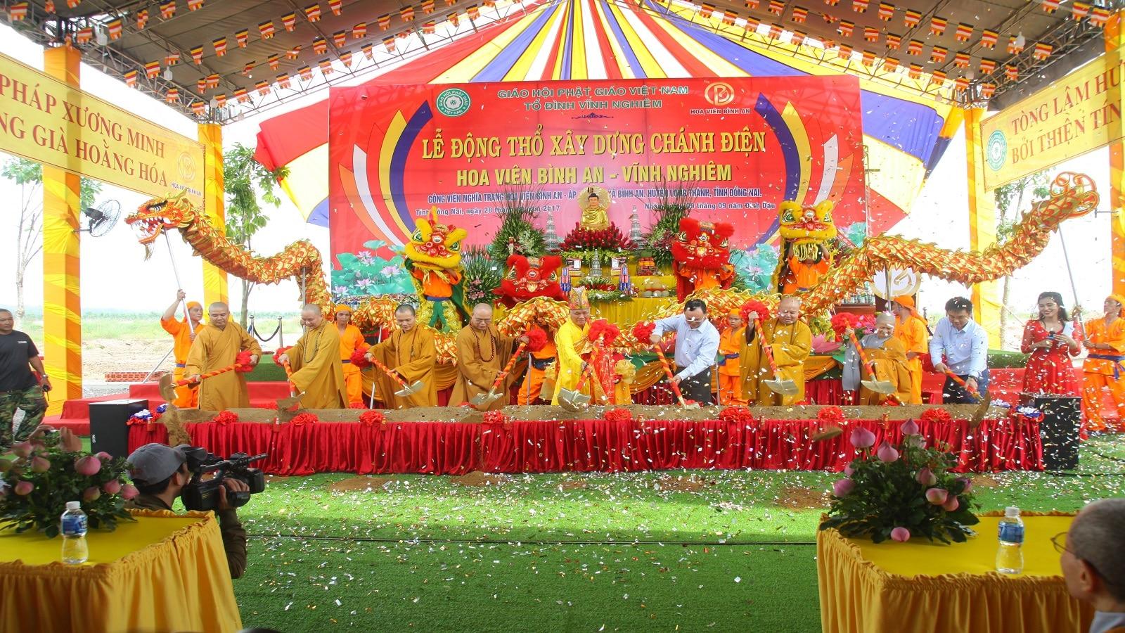 Lễ động thổ xây dựng chánh điện Thiền viện Trúc Lâm Vĩnh Nghiêm