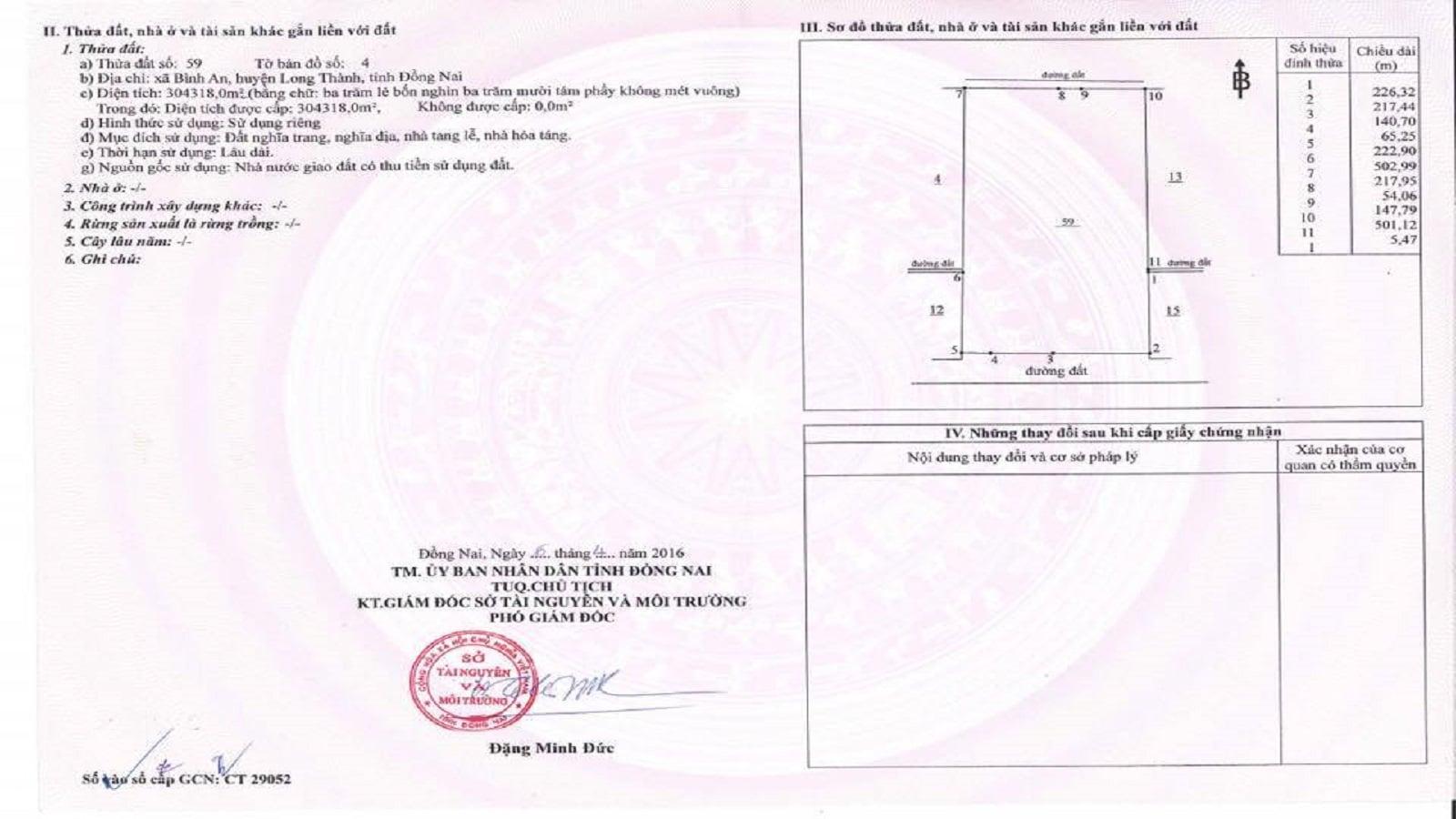 Hoa viên Bình An Vĩnh Nghiêm được thanh toán 100% tiền đất, sổ hồng đầy đủ