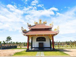 Khu lăng mộ gia tộc được thiết kế theo phong cách kiến trúc truyền thống tại Hoa Viên Bình An Vĩnh Nghiêm
